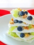 【簡単デザート】キウイとブルーベリーのヨーグルトバーク