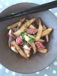 スピード料理☆タコとエリンギのガーリック醤油炒め
