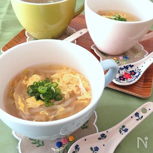 もやしと卵の生姜スープ
