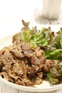 鉄分&たんぱく質がしっかり摂れる♪牛もも肉のレタス巻き