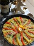チキンと野菜の簡単パエリア