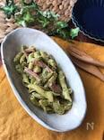 『お弁当おかずシリーズ』ベーコンのバジルマヨパスタ