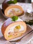 ふんわりしっとり♡極上食感♪フルーツチーズスフレロールケーキ