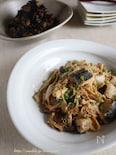 たっぷり茸と玉葱とサワラの炒め蒸し