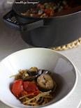 トマトと茄子のパスタパエリア