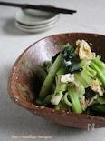 小松菜とお揚げのアンチョビチーズ炒め