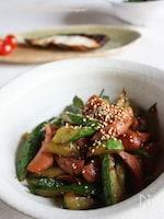 しゃきしゃき胡瓜とソーセージの生姜焼き