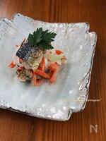 秋刀魚と玉葱のヨーグルトマリネ