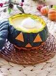 かぼちゃでレアチーズケーキ☆HALLOWEEN!