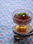 麦茶で作る簡単ゼリー☆