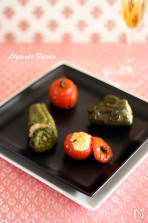 トマトとピーマンのファルシ