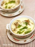 帆立と菜の花の茶碗蒸し