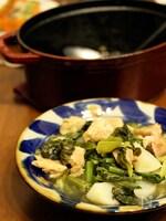 かぶと鶏もも肉のストウブ蒸し煮