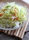 春キャベツとスモークサーモンと新玉ねぎのサラダ