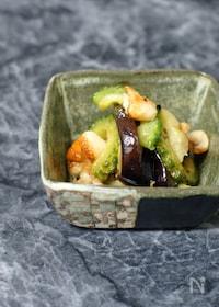 『鶏皮と夏野菜の柚子こしょう炒め』