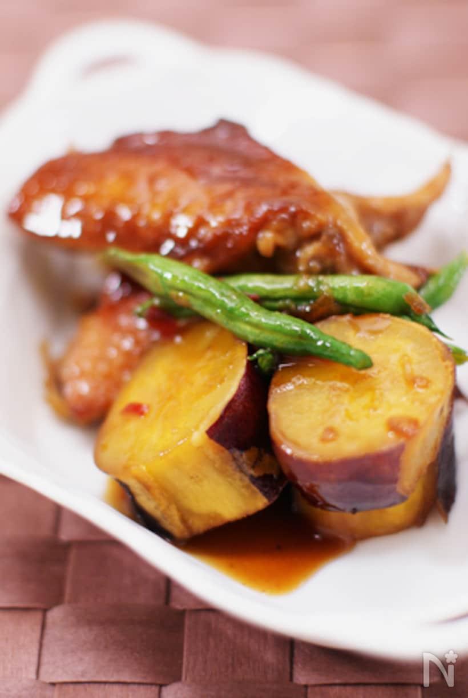 鶏と手羽先とさつまいものマーマレード煮