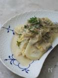 白菜とじゃこのクリーム煮 ゴルゴンゾーラ風味