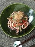 イカの塩麹ゴーヤチャンプル