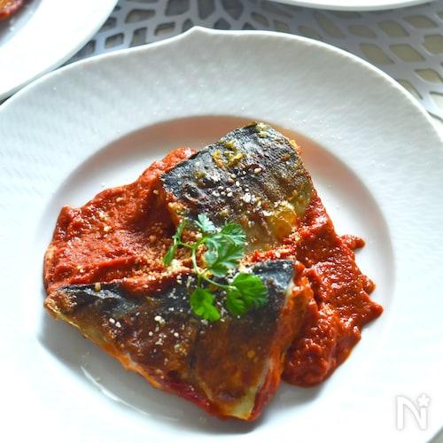 隠し味がポイント!魚嫌いも喜ぶ!さばのトマトクリーム煮。