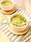 セロリの洋風かきたまスープ