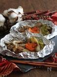 牛肉と季節の味覚の包み焼き【#牛肉#長ネギ#舞茸】