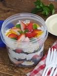 ドライマンゴーと苺のチアヨーグルトクリーム・スコップケーキ