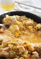 白菜キムチで簡単チーズタッカルビ