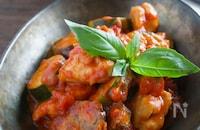 夏野菜たっぷり!なすと鶏肉のトマト煮
