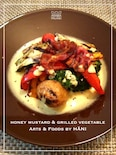 グリル野菜のハニーマスタードソース