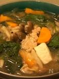 胡麻ラー油ピリ辛具だくさん豚汁