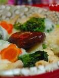 ふわっと♪鶏むね肉と菜の花のとろろ煮