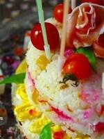主役級♪2段ケーキ寿司&はんぺんBoxレシピ