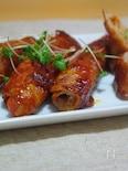 彩り野菜巻きのポークチャップ