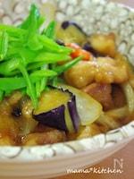 鶏唐と揚げ茄子の煮浸し