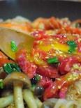 お野菜もたっぷり♪フライパンでユッケビビンバ