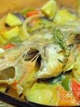 メバルと夏野菜のアクアパッツァ