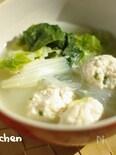 白菜5日目 白菜とやわらか鶏だんごの春雨スープ