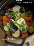 【ストウブ】 鱧と夏野菜のジェノベーゼ