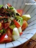 長芋入り♪トマトとアボカドのタルタルユッケ