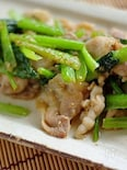豚肉と小松菜の胡麻味噌炒め