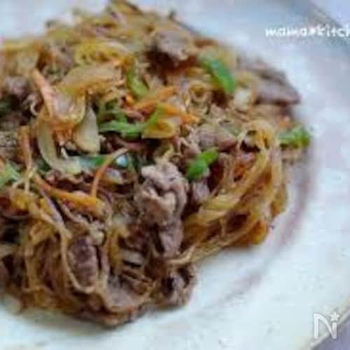 牛肉と春雨の甘辛中華炒め