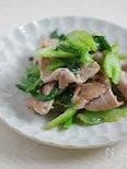 豚肉とセロリのナンプラー炒め