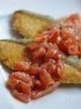 フレッシュトマトソースで!サーモンフライ