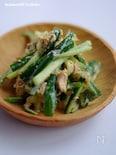 パリパリ塩揉みキュウリの中華風サラダ
