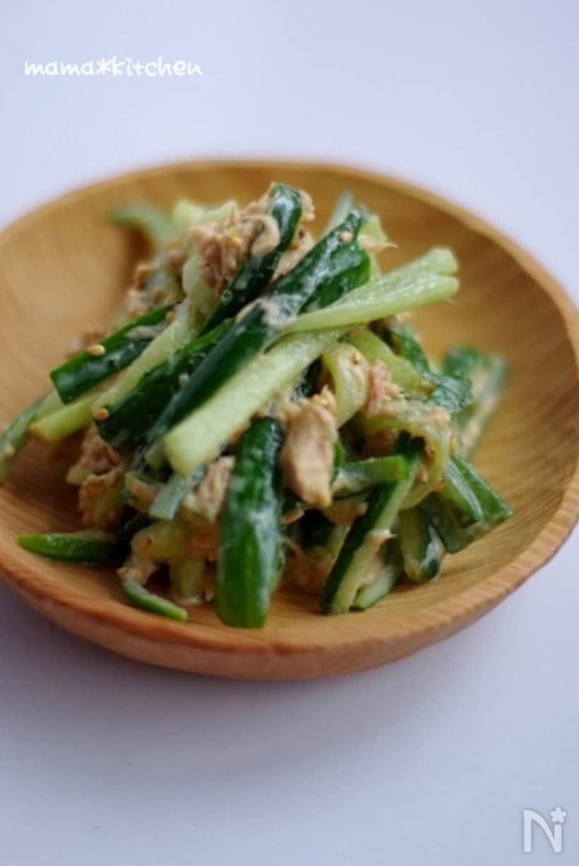 塩もみきゅうりの中華風サラダ