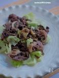 牛肉とレタスの柴漬け炒め