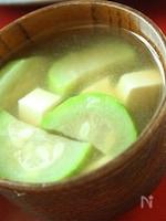 ナーベラーと豆腐のお味噌汁