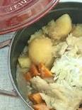 staub鍋で作る! とろとろ鶏じゃが柚子風味