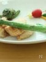 鶏ささみの竜田揚げ&アスパラガスの素揚げ