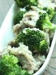 砂肝とブロッコリーのガーリック炒め